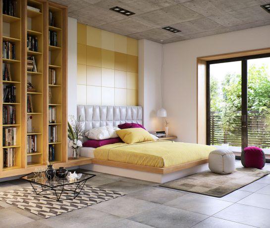 Mẫu thiết kế phòng ngủ màu vàng đẹp nhất dành cho năm 2017 - Ảnh 10