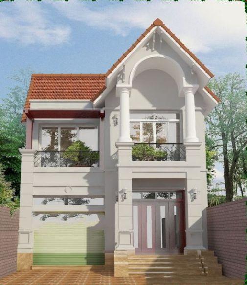 Ngắm nhìn mẫu biệt thự 2 tầng diện tích 80m2 mái thái đẹp