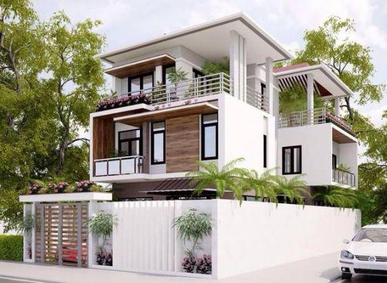Mẫu thiết kế Biệt thự 3 tầng đẹp -> Hình 1