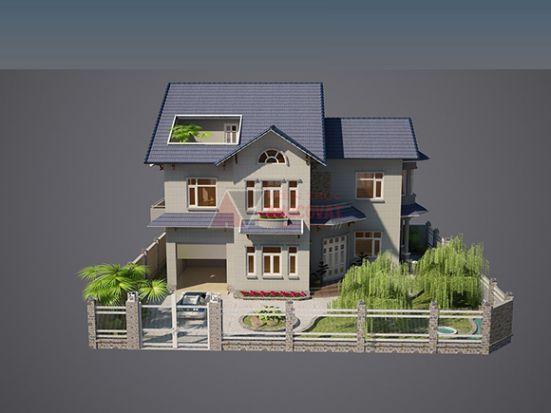 Mẫu thiết kế Biệt thự 90m2 -> Hình 1