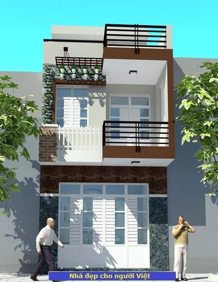 Mẫu nhà 2 tầng 30m2 -> Hình 1