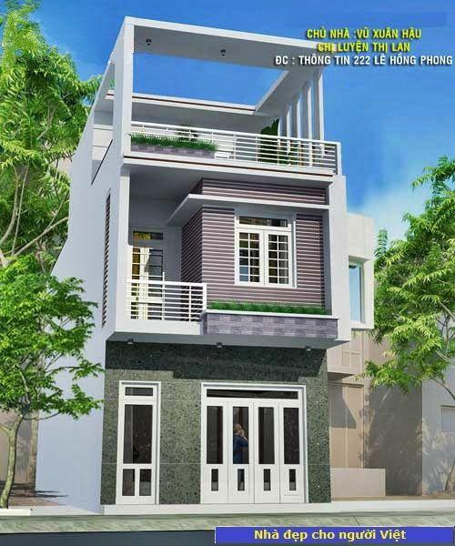 Mẫu nhà 2 tầng 5x12m -> Hình 2