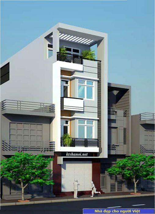 Mẫu nhà 2 tầng 5x18m -> Hình 2