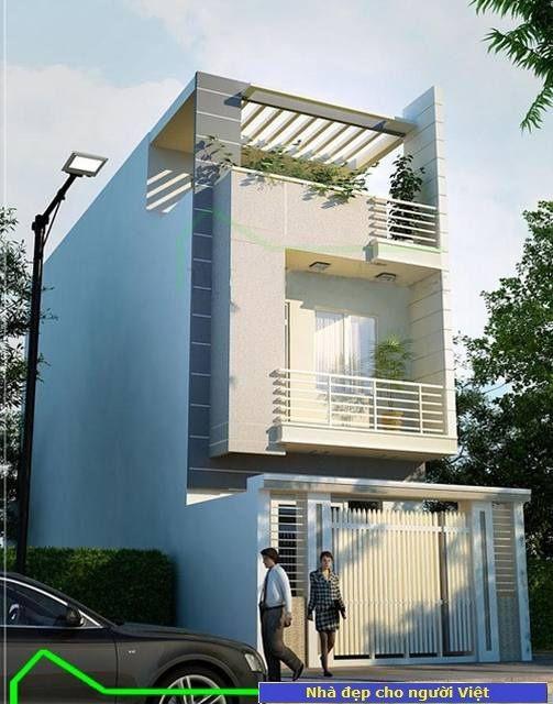 Mẫu nhà 2 tầng 5x20m -> Hình 2