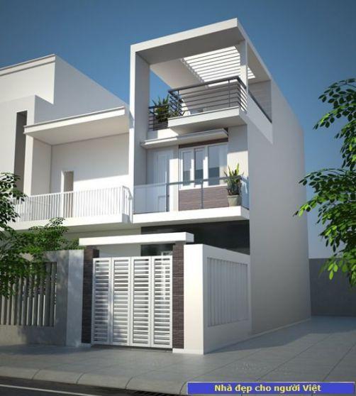Mẫu nhà 2 tầng 6x12m -> Hình 2