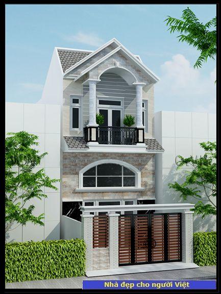 Mẫu nhà 2 tầng 6x13m -> Hình 2