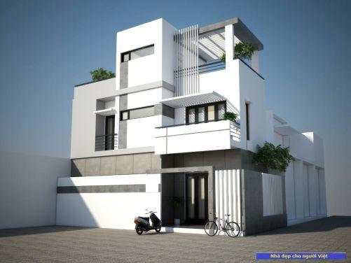 Mẫu nhà 2 tầng 6x13m -> Hình 1
