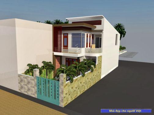 Mẫu nhà 2 tầng 6x20m -> Hình 2