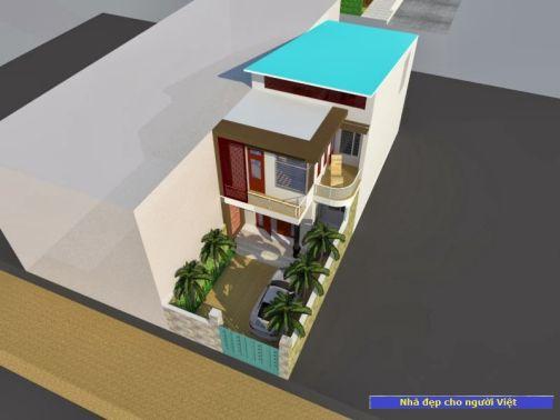 Mẫu nhà 2 tầng 6x20m -> Hình 1
