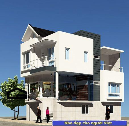Mẫu nhà 2 tầng 7x10m -> Hình 2