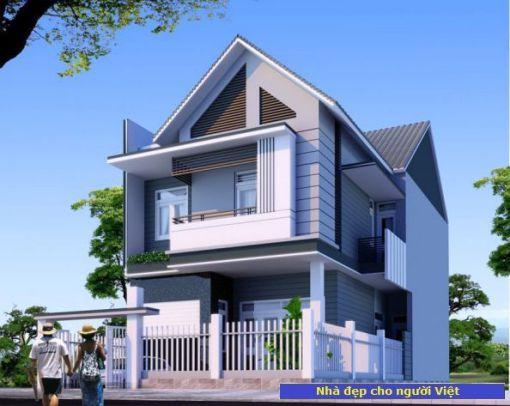 Mẫu nhà 2 tầng 7x15m -> Hình 2