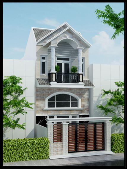 Phối cảnh mẫu nhà 2 tầng lợp ngói