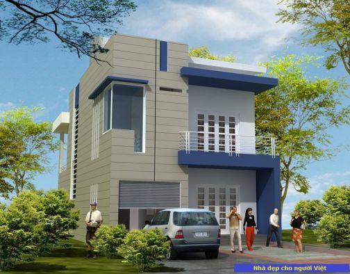 Mẫu nhà 2 tầng mái bằng -> Hình 2
