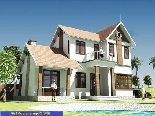 Mẫu nhà 2 tầng mái thái -> Hình 2