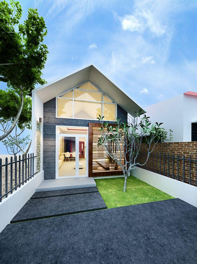Phương án phối cảnh mẫu nhà cấp 4 diện tích 5×16 đẹp Mê Hồn