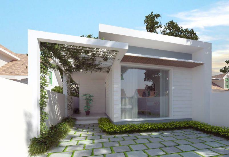 Mẫu thiết kế nhà cấp 4 diện tích 6x20m – Bản vẽ nhà 1 tầng hiện đại