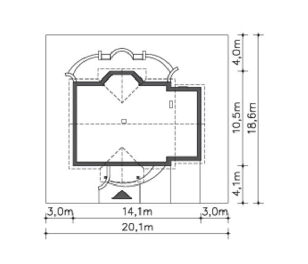 Chi tiết bản vẽ mẫu nhà cấp 4 nông thôn 3 phòng ngủ đẹp