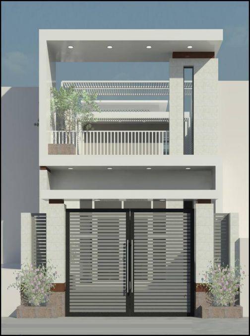 Mẫu nhà phố 1 tầng hiện đại (hình 1)