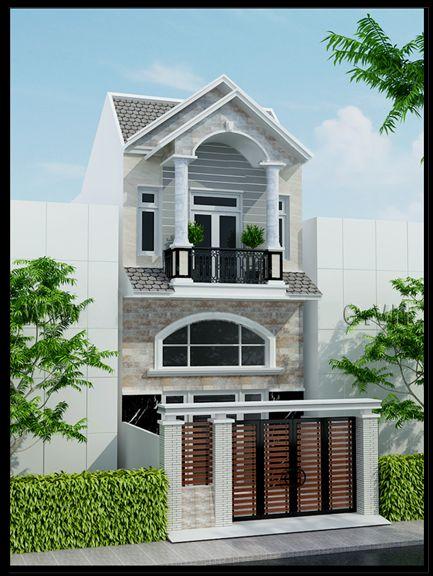 Mẫu nhà phố 2 tầng 5x15 (hình 2)