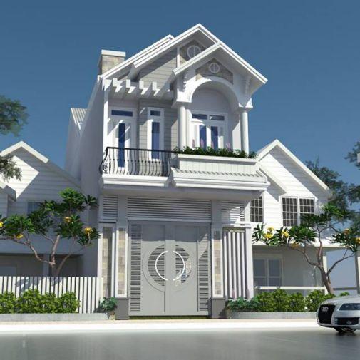 Mẫu nhà phố 2 tầng đẹp (hình 3)