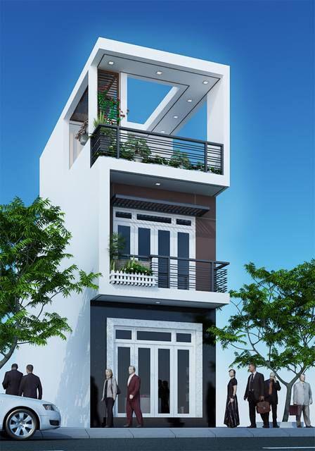 Mẫu nhà phố 3 tầng 4x12 (hình 1)