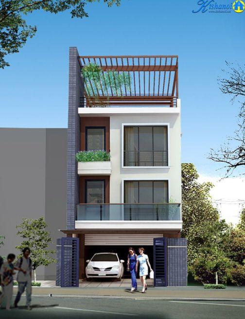 Mẫu nhà phố 3 tầng 5x20 (hình 2)