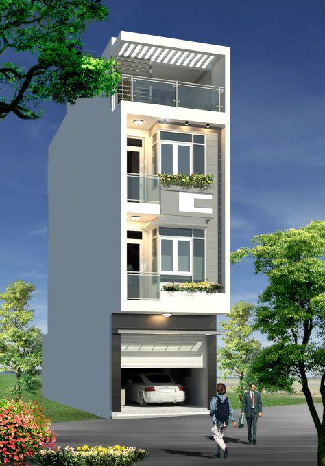 Mẫu nhà phố đẹp có gara (hình 3)