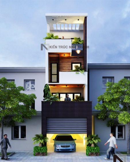 Mẫu nhà phố đẹp có gara (hình 8)