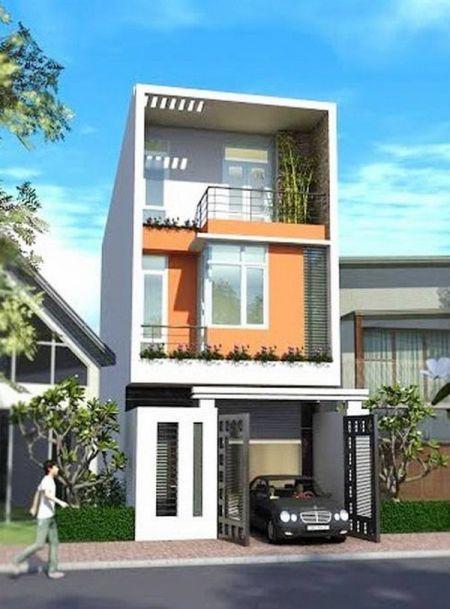 Mẫu nhà phố đẹp có gara (hình 9)