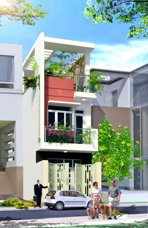 Mẫu nhà phố diện tích nhỏ ( hình 1)