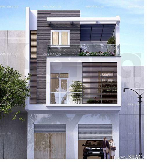 Mẫu nhà phố ngang 7m (hình 1)