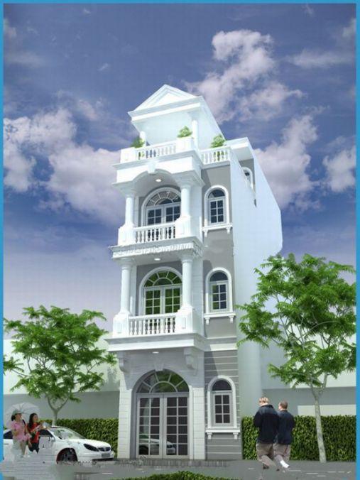 Mẫu nhà phố tân cổ điển (hình 2)