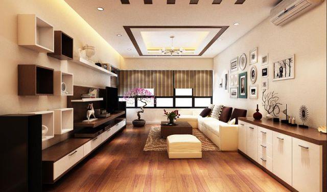 Mẫu trần thạch cao phòng khách -> Hình 1