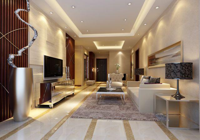 Mẫu trần thạch cao phòng khách -> Hình 2