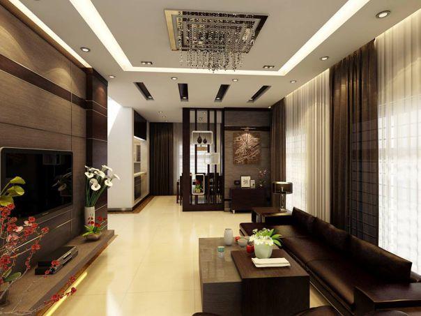 Mẫu trần thạch cao cho phòng khách phong cách hiện đại -> Hình 10