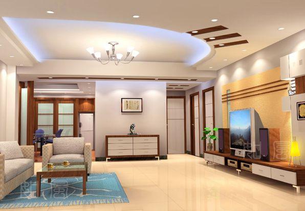 Mẫu trần thạch cao cho phòng khách phong cách hiện đại -> Hình 3