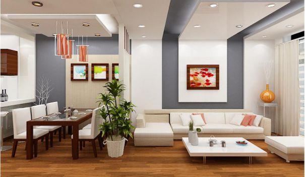 Mẫu trần thạch cao cho phòng khách phong cách hiện đại -> Hình 4