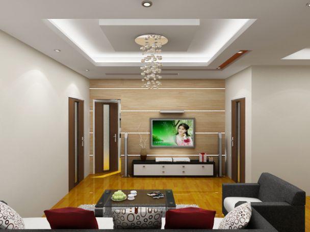 Mẫu trần thạch cao cho phòng khách phong cách hiện đại -> Hình 5