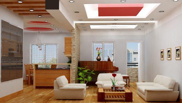Mẫu trần thạch cao cho phòng khách phong cách hiện đại -> Hình 6