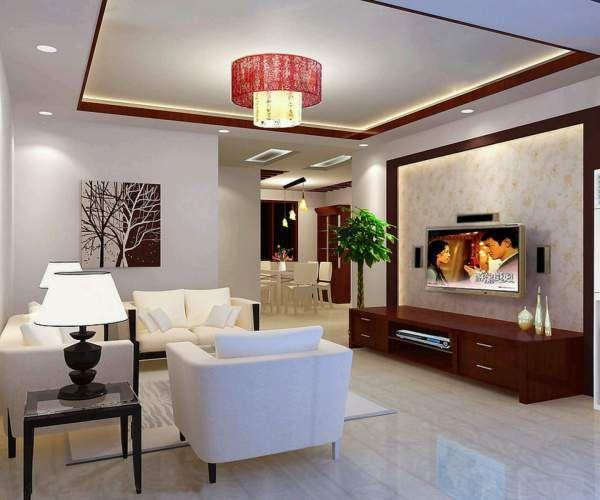 Mẫu trần thạch cao cho phòng khách phong cách hiện đại -> Hình 7