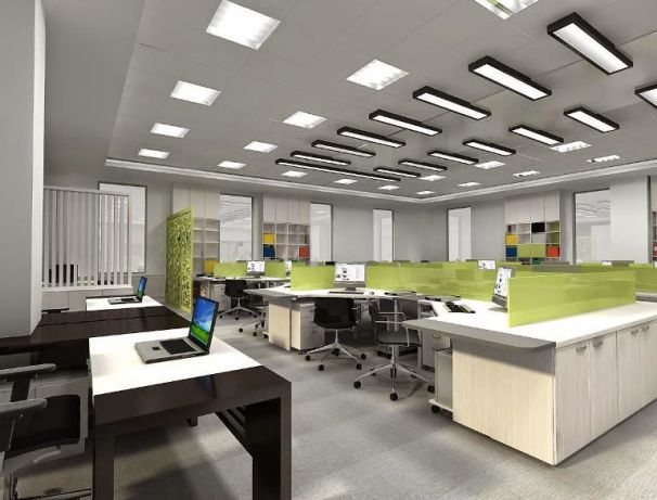 Mẫu trần thạch cao cho văn phòng -> Hình 1
