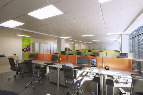 Mẫu trần thạch cao cho văn phòng -> Hình 2