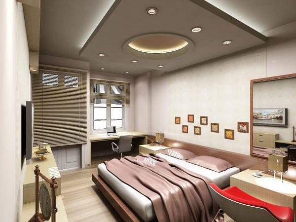 Trần thạch cao đẹp nhà ống cho phòng ngủ -> Mẫu 1