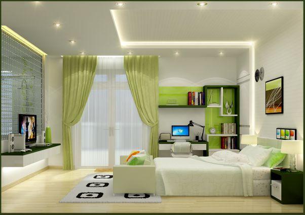 Trần thạch cao đẹp nhà ống cho phòng ngủ -> Mẫu 2