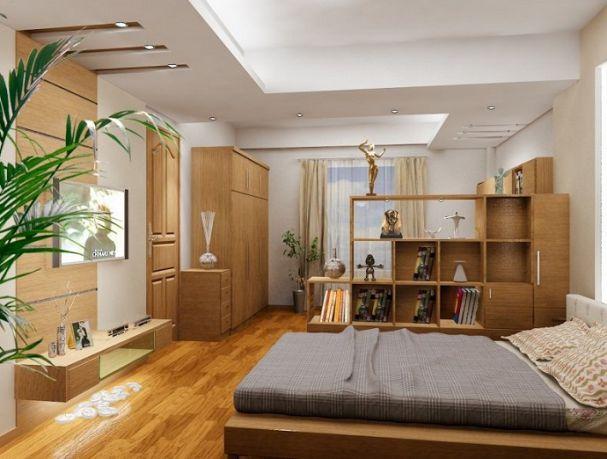 Trần thạch cao đẹp nhà ống cho phòng ngủ -> Mẫu 3