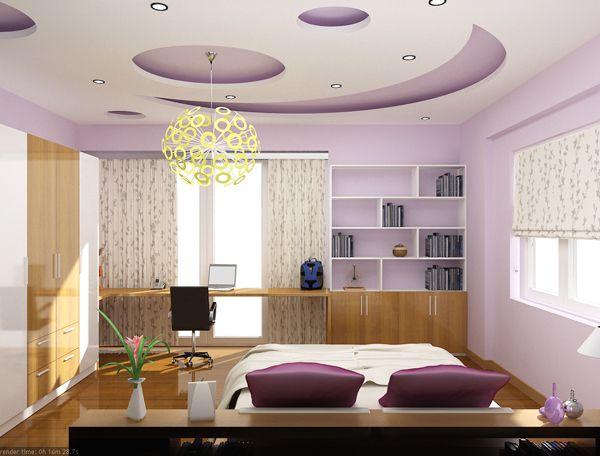 Mẫu trần thạch cao phòng ngủ đẹp -> Hình 1