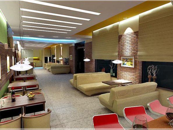Mẫu trần thạch cao quán Cafe đẹp -> Hình 1 (Nguồn: intetnet)