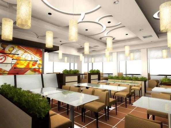 Mẫu trần thạch cao quán Cafe đẹp -> Hình 5 (Nguồn: intetnet)