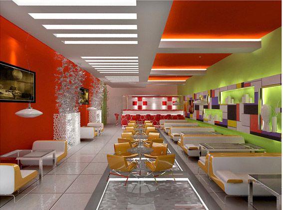 Mẫu trần thạch cao quán Cafe đẹp -> Hình 6 (Nguồn: intetnet)