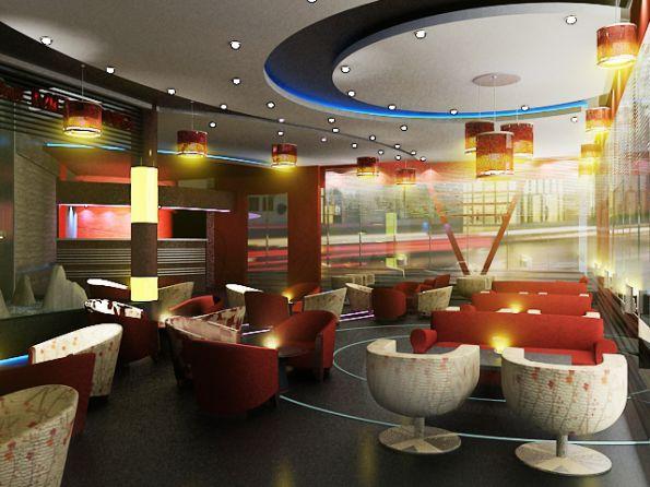 Mẫu trần thạch cao quán Cafe đẹp -> Hình 7 (Nguồn: intetnet)